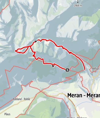 Kaart / Bergtour zum Tschigot