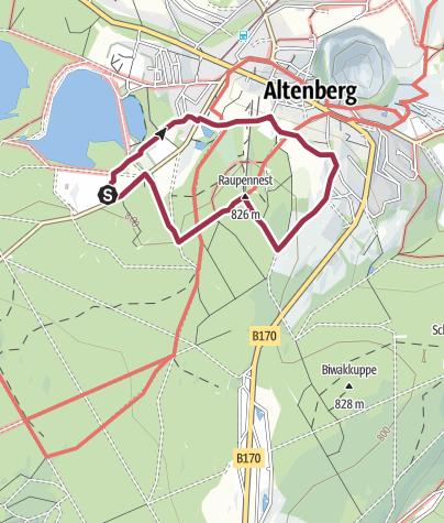 Karte / TK 10 - Terrainkurweg 10 - Raupennestring