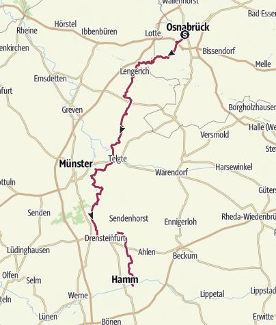 Karte / X 15: Osnabrück - Bad Hamm