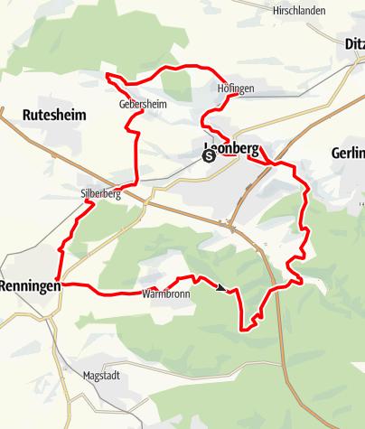 Karte / RadL Radtour 1: Leo-Tour