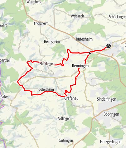 Karte / RadL Radtour 6: Gäurandweg