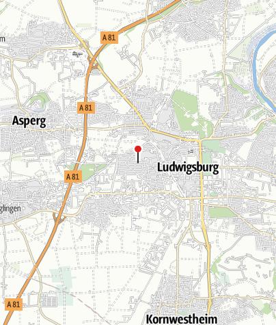 Karte / Ludwigsburg Weststadt-Kirche