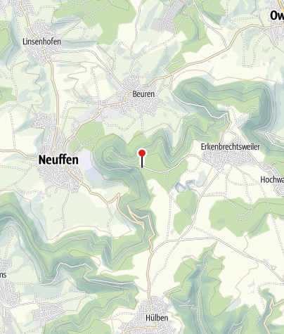 Karte / Neuffen W-Parkpl. Hohenneuffen