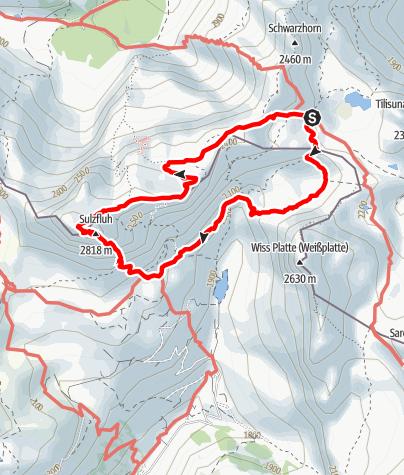 Map / Klettersteig Sulzfluh