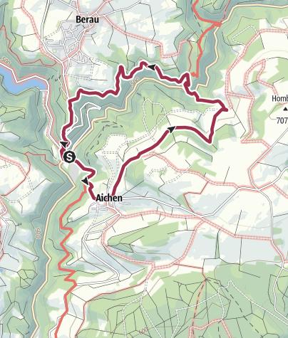 Karte / Felsenstürmer-Tour im Schlüchttal