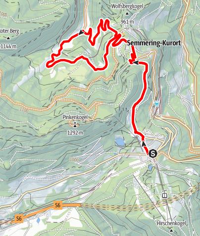 Mapa / Semmeringbahn-Strecke