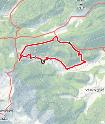 Karte / Geführte Wanderung Faden - Mamauwiese - Wasserfall