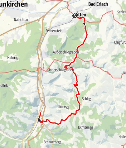 Map / Wandertipp für Fortgeschrittene: Pitten–Grimmenstein