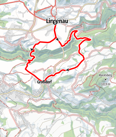 Karte / Lingenau   Durch die Subersachschlucht