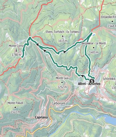 Karte / Trudner Hornalm Wanderung