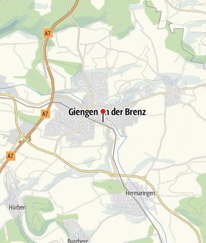 Karte / Reisemobilstation Schießberg Giengen