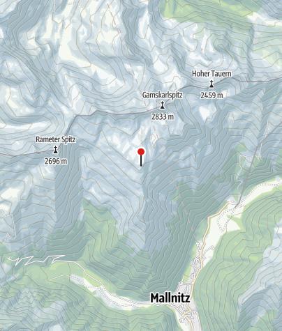 Karte / Mindener Hütte/Tauernhöhenweg
