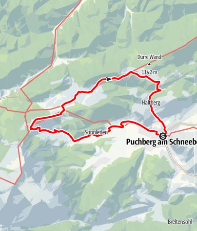 Mapa / Rundwandertipp am Wiener Alpenbogen um Puchberg