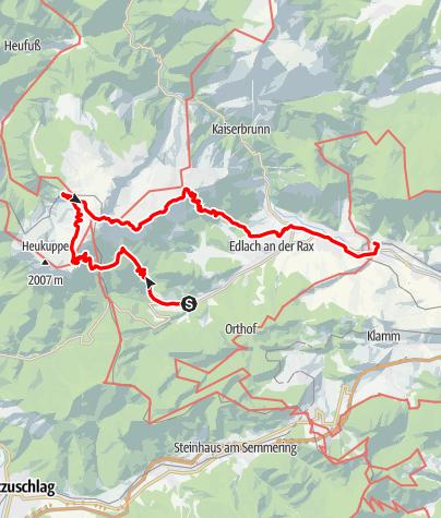 Map / Von Prein nach Payerbach am Wiener Alpenbogen