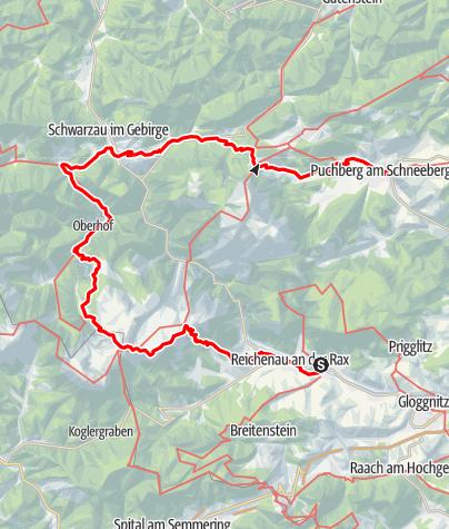 Karte / Schneeberg & Rax Backstage - Wandertipp für Experten