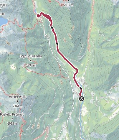 Karte / Walking track Forra di Sorgazza - Cengello