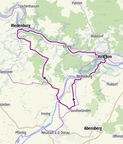 Map / Time Out eBike experience: Stromtreter Altmühl Danube Tour