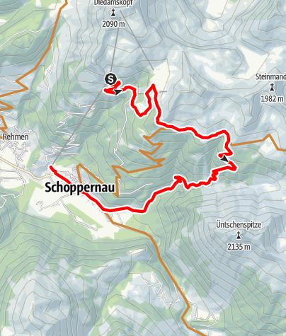 Karte / Schoppernau | Schoppernauer Höhen-Runde