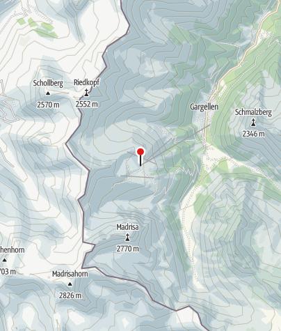 Karte / Bergbahnen Gargellen