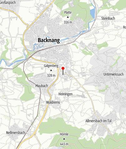 Karte / Backnang Kuchengrund/OVR