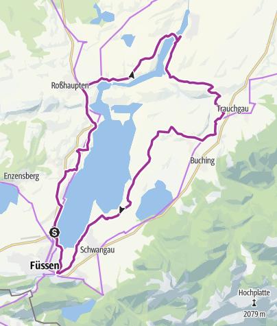 Karte / 9. ABK Allgäuer Radltour - Genussroute