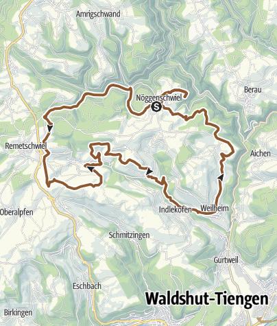 Karte / Weilheim: Mit dem Bike durch die Natur pur