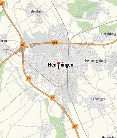Karte / Blick von St. Martin auf den Memminger Marktplatz