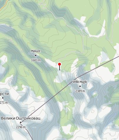 Map / Mountain huts on Prijevor