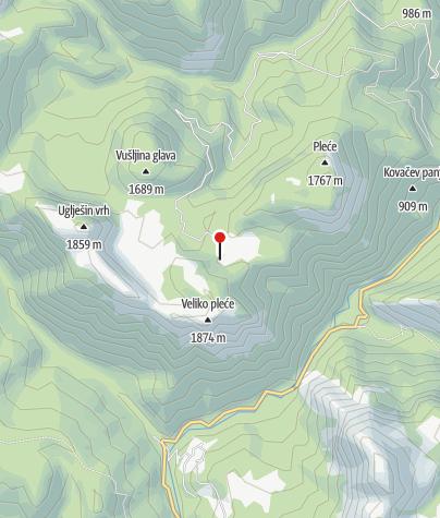 Map / Mountain Hut at Donje Bare