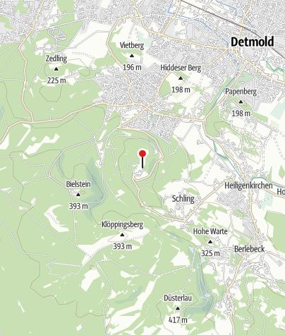 Kaart / Tourist Information am Hermannsdenkmal