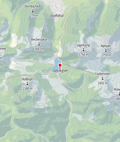 Karte / Eisstockschießplatz Spitzingsee