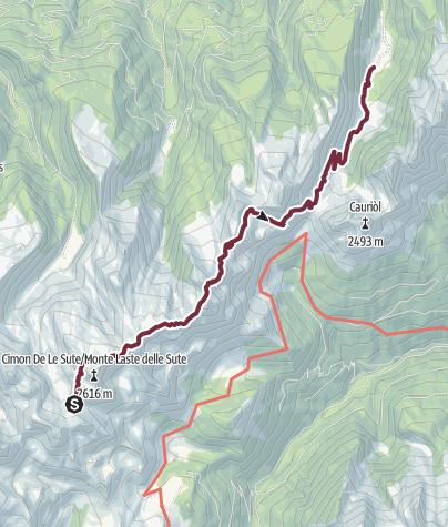 Karte / Lagorai Überquerung - Etappe 2