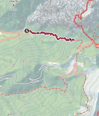 Map / Sentiero Val Sorda 402 (della morte)