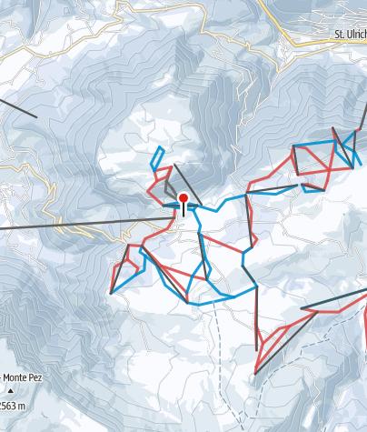 Cartina / Alpe di Siusi / Val Gardena