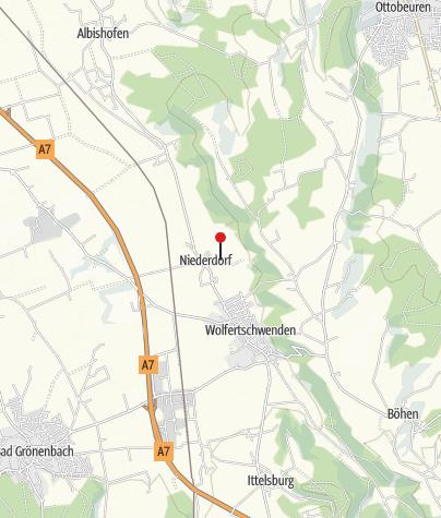 Karte / Kneippanlage in Niederdorf