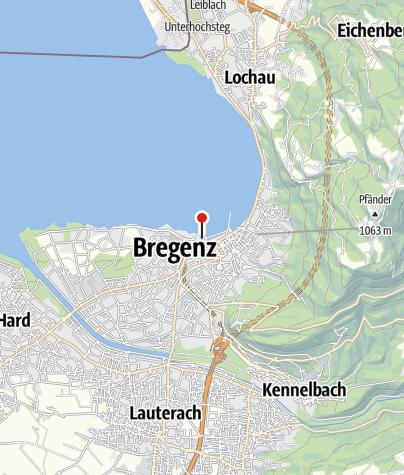 Karte / Minigolfanlage in den Bregenzer Seeanlagen