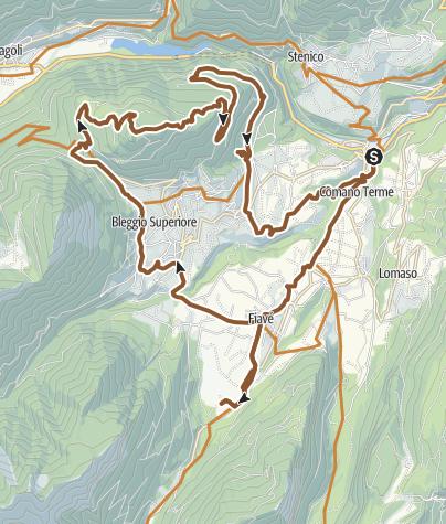 Cartina / Ebike tour Bleggio - Monte San Martino