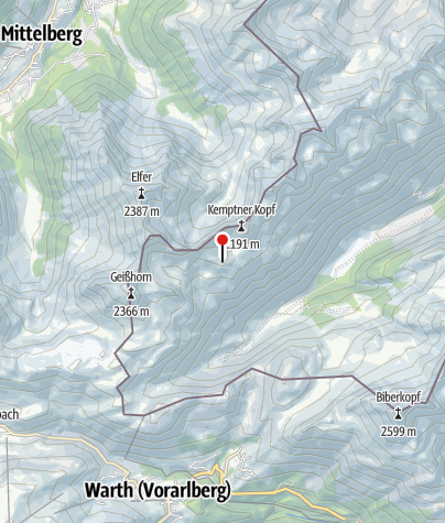 Map / Mindelheimer Hütte