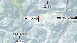 Map / Mountain hotel Körbersee.