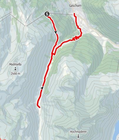 Karte / Wanderung zur Garneraalpe - unterwegs im Naturjuwel Garneratal
