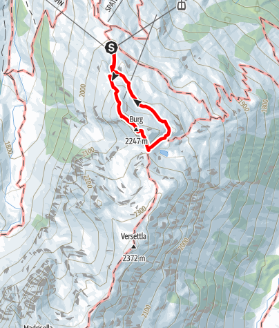 Map / Klettersteig Burg