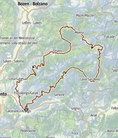 Mappa / Grand Tour Dolomiti Lagorai Bike