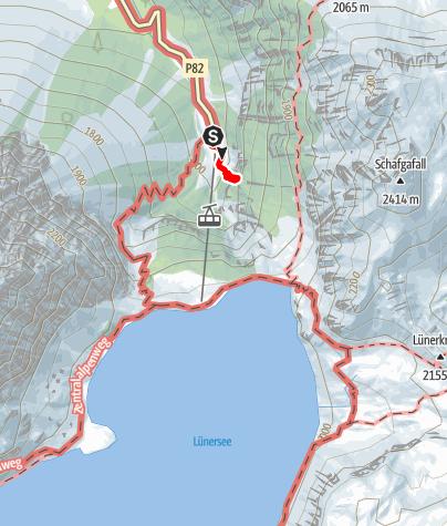 Kaart / Klettern bei der Talstation Lünerseebahn im Brandnertal