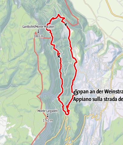 Mapa / Eppaner Höhenweg