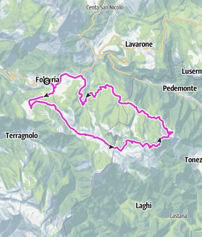 Cartina / Serrada - Fondo Grande - Passo Coe - Sella Valbona - Fiorentini