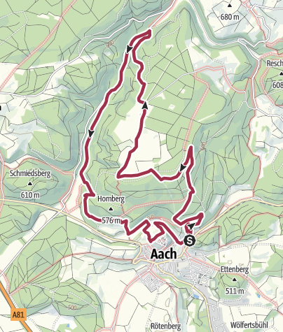 Karte / Hegauer Kegelspiel: Aacher Geißbock
