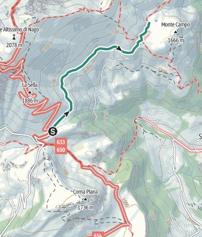 Map / L'alpeggio e i panorami di Malga campo