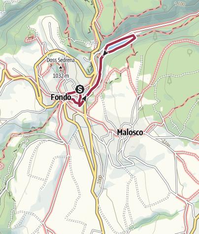 Map / Wanderung zur Schlucht des Rio Sass