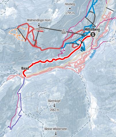 Karte / Baader Höhenweg