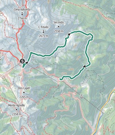 Karte / Feudo - Vardabe Wanderung